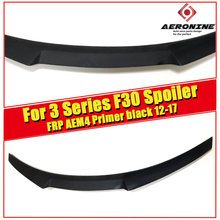 F30 3 Series & M3 High Kick Big Trunk Spoiler Wing M4 Style FRP Unpainted For BMW 318i 320i 320d 325i 330i Rear Wings Lip 12-17 f30 spoiler rear wing frp unpainted psm style fits for bmw 3 series 318i 320i 320d 325i 330i 335d 340i wing rear spoiler 2012 17