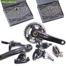 Risque – jeu de vis de changement de vitesse en titane pour vtt, kit de boulons de frein à disque d'huile pour Shimano M7000 XT M8000, freins/dérailleurs