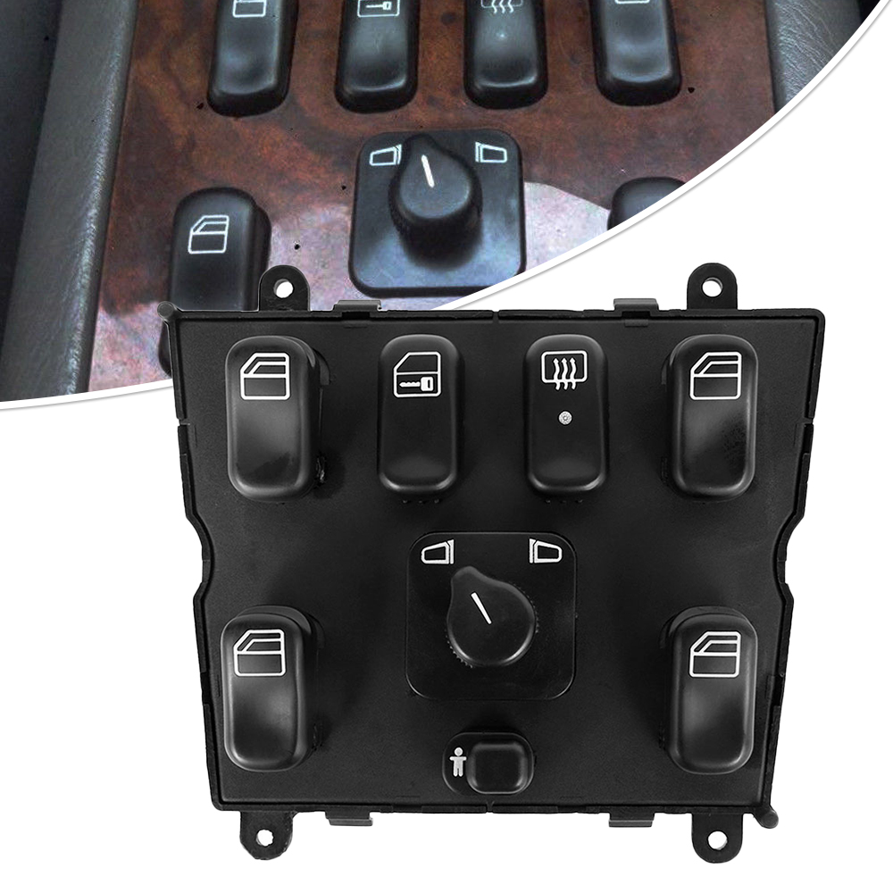 Power Window Switch for Mercedes-Benz ML320 <font><b>W163</b></font> ML400 ML430 ML500 A1638206610 1638206610 ABS Master Window Control Switchs image
