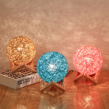 цена LED Night Light 3D Print Moon Lamp Rechargeable Color Change 3D Light Touch Moon Lamp Children's Lights Night Lamp for Home онлайн в 2017 году