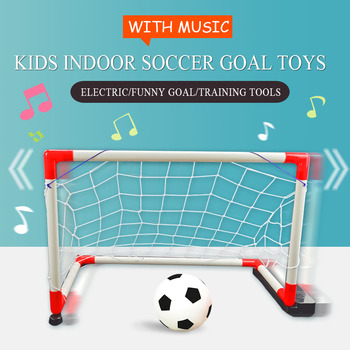 цена на WISHOME Mini Soccer Goal for Indoor Football Goal Kids Soccer Goal Net for Backyard Square Football Gate Electric Toy with Music