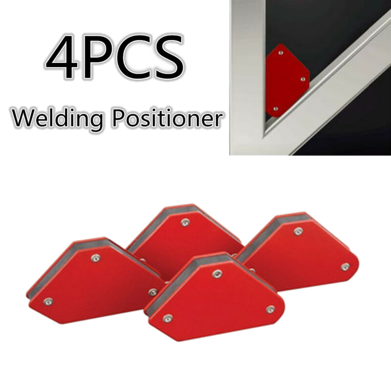 4pcs 58X50mm Welding Magnetic Square Welder Holder Arrow Clamp 45°/90°/135° 9Lb Welding Positioners Locator Strong Magnet