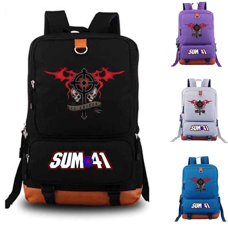 Sum41 Band Backpack Student School Bag Daily Backpack Men Women Rucksack Notebook Backpack