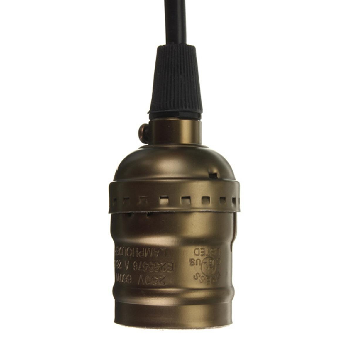 E27 4 colgante calidad de interruptor luz tornillo colores con Edison Vintage Retro lámpara bombilla de soporte Base alta interruptorNo de enchufe jLUSGqzMpV