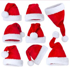 Children Christmas Red Riding Hood Santa Novelty Christmas Hat Cap Thick Ultra Soft Plush Cute Santa Claus Accessories Hat