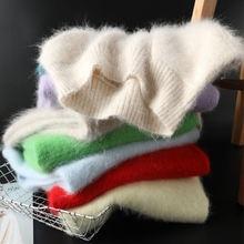 Осень зима новый стиль женский свитер с полувысоким воротником