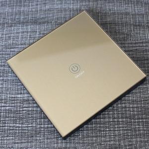 Image 4 - Ktnnkgゴールド 86 壁タッチリモコンワイヤレスrfトランスミッタ強化ガラスパネル + ledランプライトのための 433mhzのEV1527 チップ