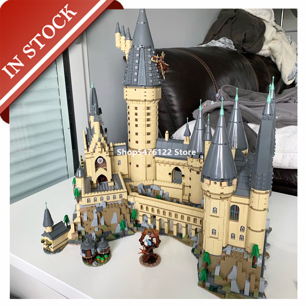 Potter Moive H Warts Magic School Castle 71043 16060 In Stock Building Block 6742Pcs Bricks Gift Kit Movie 83037 70068 75954