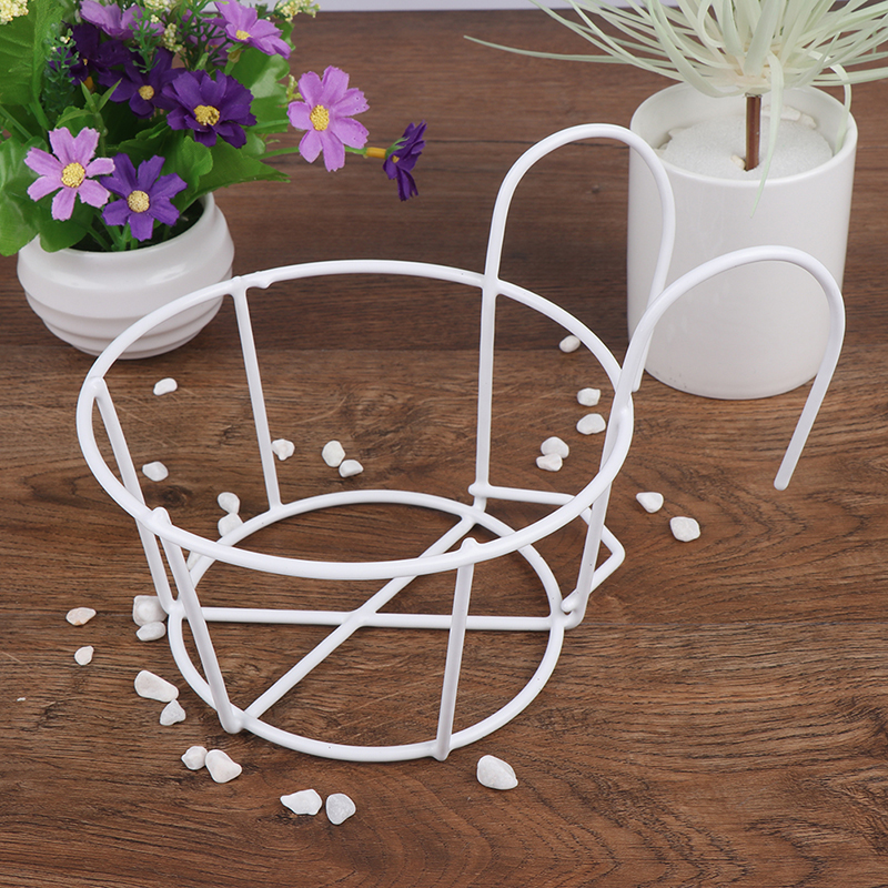 1PCS Ornaments Flower Rack Iron Stand Plant Garden Hanging Pot Holder Round Indoor Outdoor Balcony Frame Home Decor