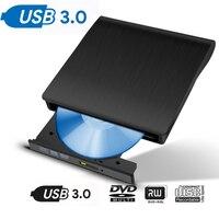 External CD DVD Drive USB 3.0 Rewriter Burner Writer High Speed Data Transfer External USB Optical Drives For Macbook Notebook