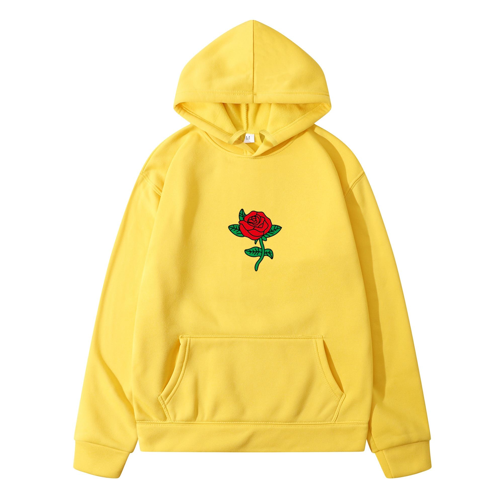 New Fashion 2020 Autumn Winter Latest Harajuku Poison Rose Print Hoodies High Quality Men Women Hip Hop Streetwear Clothing