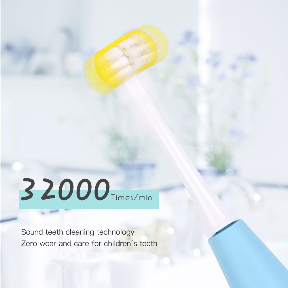 3D Side Sonic Electric Toothbrush 3 Side SB Rechargeable Replacement Brush Head 5 Mode Waterproof 2 Minute Timer 30S Remind