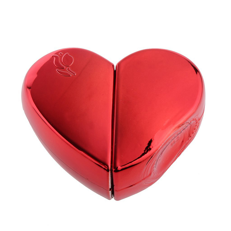 <font><b>25ml</b></font> Perfume <font><b>Spray</b></font> <font><b>Bottle</b></font> Heart Shape Atomizer Gift Box Rechargeable Gift - red, One Size image