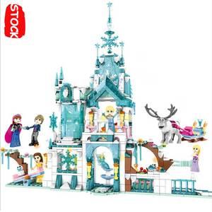 Lepinblocks Girls Toys Ice Snow Castle Lepining 25002 41148 Friends Fozeninglys Figures Dolls Playmobil Original Bricks Blocks(China)