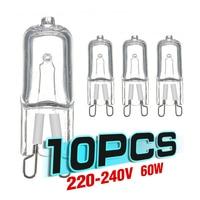 10 Uds G9 Eco bombillas halógenas G9 220V 20W / 25W / 40W / 60W cápsula bombillas LED para lámpara inserta cuentas de cristal lámpara bombilla halógena