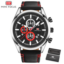 MINI FOCUS Luxury Brand Sport Watches For Men Analog Date Quartz Big Watch Men Leather Clock Male Military Men Watch Waterproof цена в Москве и Питере