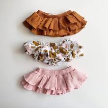 2020 bebê roupas de verão infantil bebê recém-nascido meninas floral babados shorts sólidos saias moda bottoms pp shorts