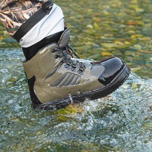 Image 2 - Mannen Ademende Outdoor Waden Laarzen, Sneldrogend En Antislip Vissen Schoenen, Voor Vissen, wandelen En Jacht