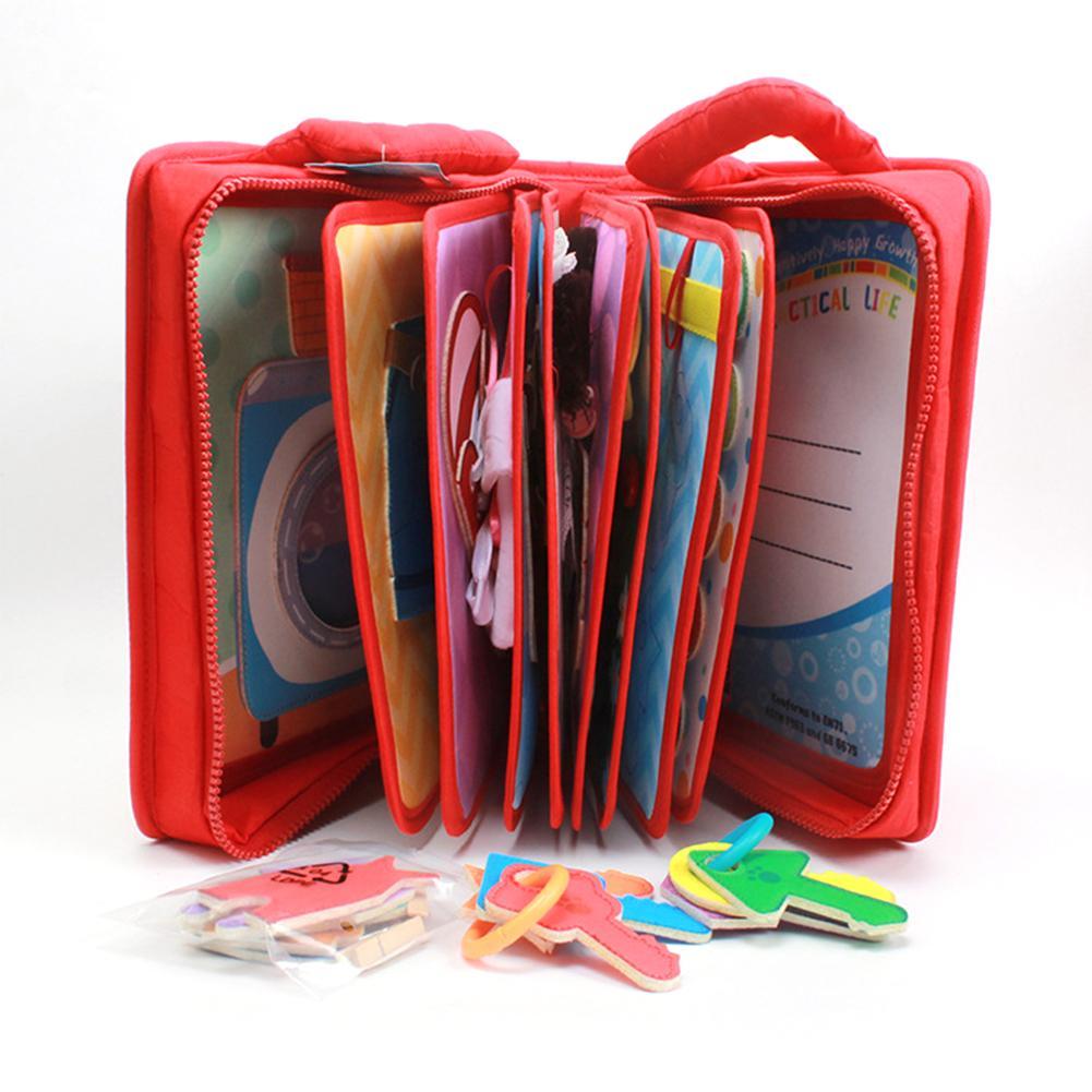 Fait à la main Montessori mon espace livre bébé éducation précoce premier calme feutre livre 26.5x22cm maman bricolage image livre feutre livre de bébé - 2