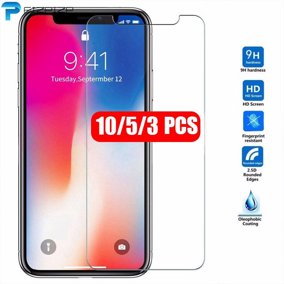 Закаленное стекло для iPhone 11 Pro Max X XS MAX XR 6 6s 7 8 Plus, 10 шт., 5 шт., Защитная пленка для экрана для iPhone 11 Pro Max X XS MAX XR 6 6s 7 8 Plus, Защитная пленка для экрана,...
