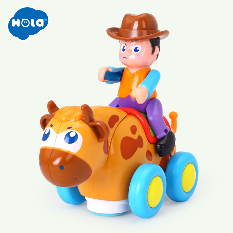 HOLA TOYS 838B Wild Bullfight Baby Toys Happy Racing  With Music & Lights Kids Crawl Styling Toy For Children