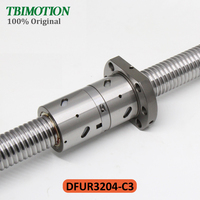 TBI Motion C3 Ground Ball Screw DFUR3204 with 32mm Diameter 4mm Lead High Precision Double Nut Ballscrew