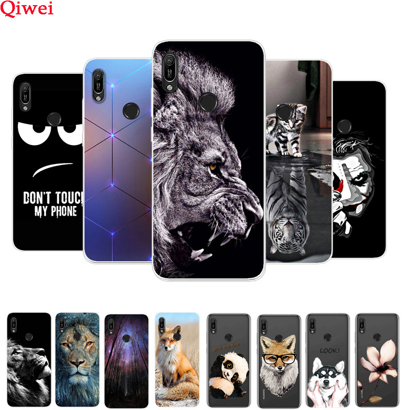 <font><b>Case</b></font> For <font><b>Huawei</b></font> <font><b>Y6</b></font> <font><b>2019</b></font> <font><b>Cover</b></font> Print Soft Silicone Protector <font><b>Cover</b></font> Coque Fundas For <font><b>Huawei</b></font> <font><b>Y6</b></font> <font><b>2019</b></font> MRD-LX1 MRD-LX1F Y 6 <font><b>2019</b></font> 6Y image