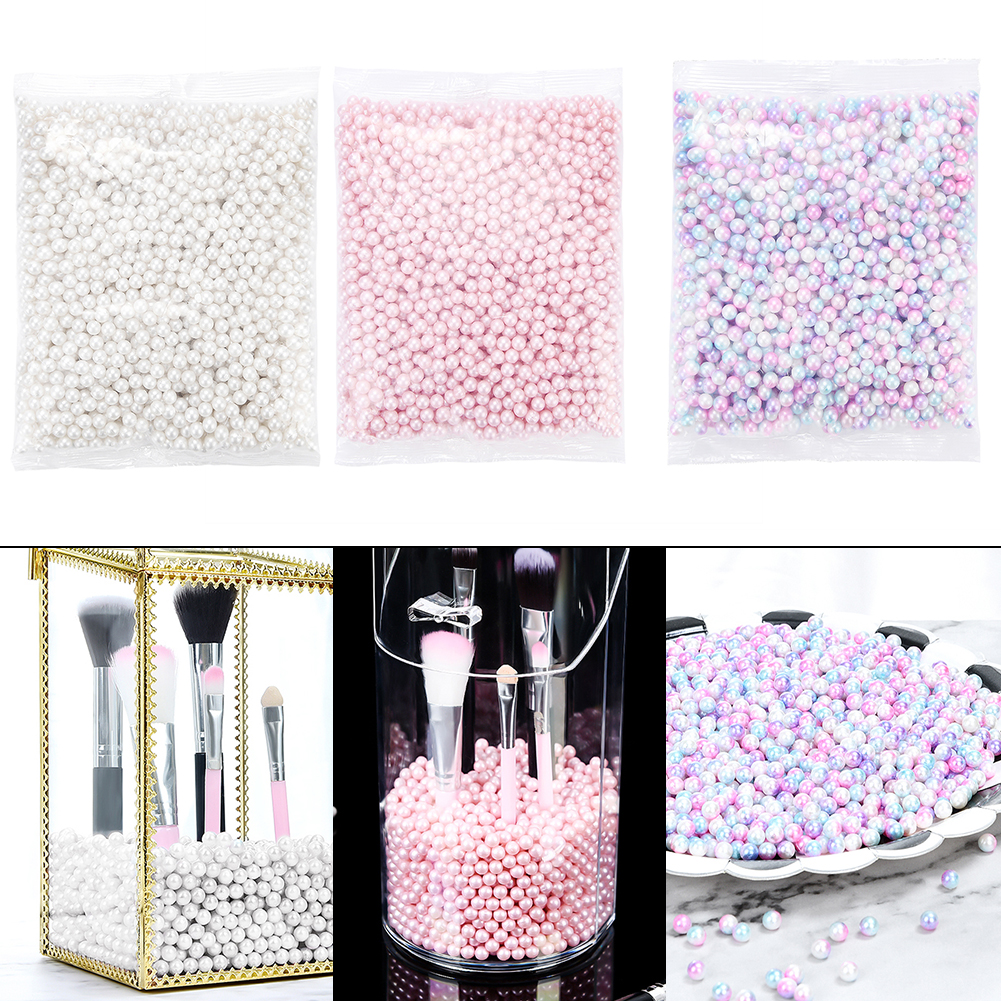 300g Fillings Pearls Beads Decoration Charms For Makeup Brush Bucket Storage Box Makeup Container Bucket Filling Pearls