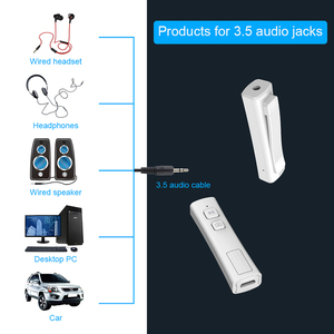 Image 4 - Pen Clip Bluetooth 5.0 Music Audio Receiver Mini 3.5mm Jack AUX Car Adapter Handsfree for Xiaomi for Photograph Headsets Speaker