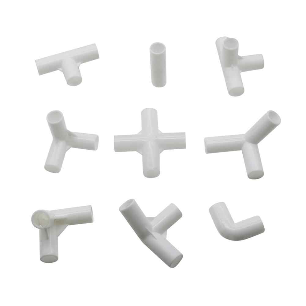5 Pcs 12 Mm Pvc Rechte Elleboog Cross Connector Joint 60 90 120 135 Graden Tee Connector Pvc Pijp Montage diy Tent Vaste Fittings