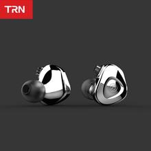 Trn ba unidade de fone de ouvido alta fidelidade armadura balanceada em fones monitor metal fone ruído fone trn vx v80 zsx as16