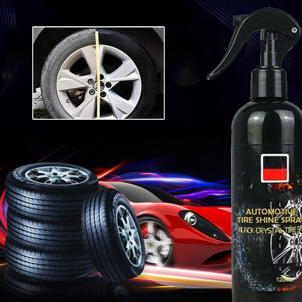 100ml Car Tire Cleaner Auto Tires Coating Protectant Agent Cleaning Agent Spray Shine Car Polishing Car Tire Tool Maintenan R7V6