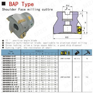 Image 4 - MOSASK BAP300R 40 22 4T Clamped CNC Cutting Steel Right Angle End Mill Precision Face Milling Cutter