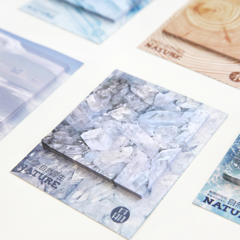 30 Sheets Diy Creative Nature Cloud Ice Wood Sea Novelty Sticky Notes Planner Stickers Memo Pad Stationary Office Supplies