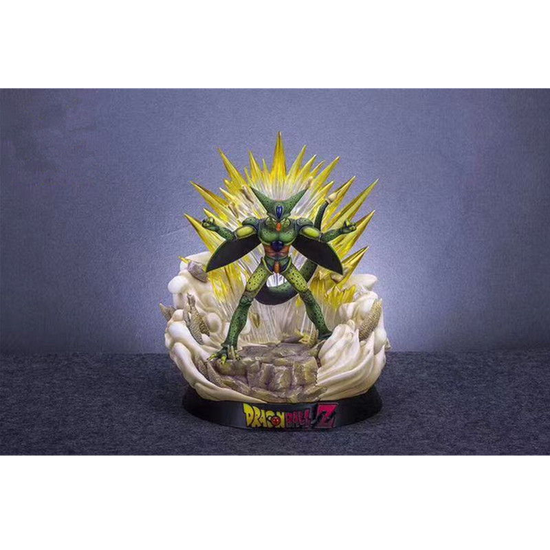 Dragon Ball Can Light Up Cell Biochemical Humanoid Biology GK Statue PVC Action Figure Collection Model Toy M2891 1