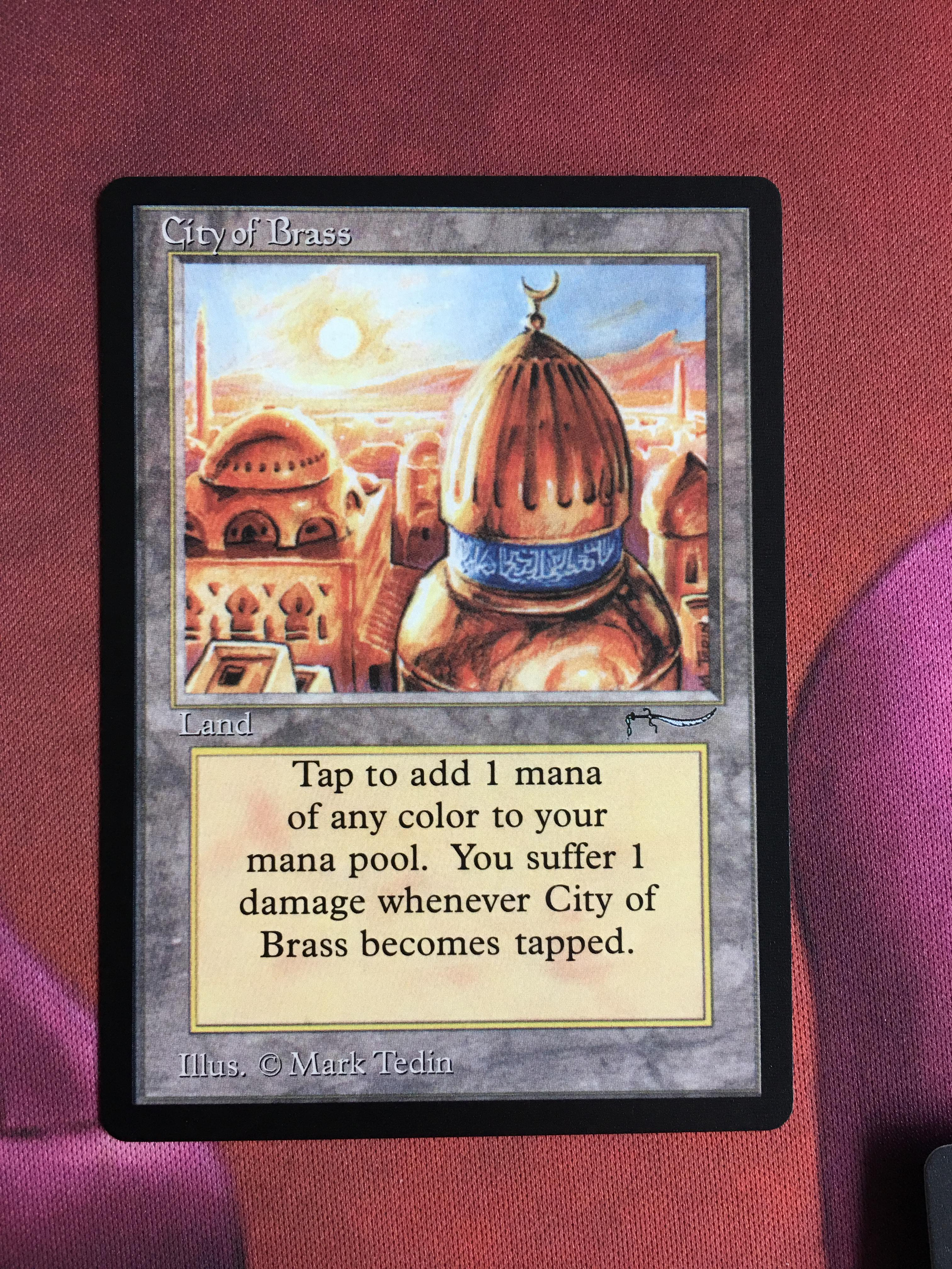 City Of Brass Arabian Nights Magician ProxyKing 8.0 VIP The Proxy Mtg Proxy Cards To Gathering Every Single Mg Card.