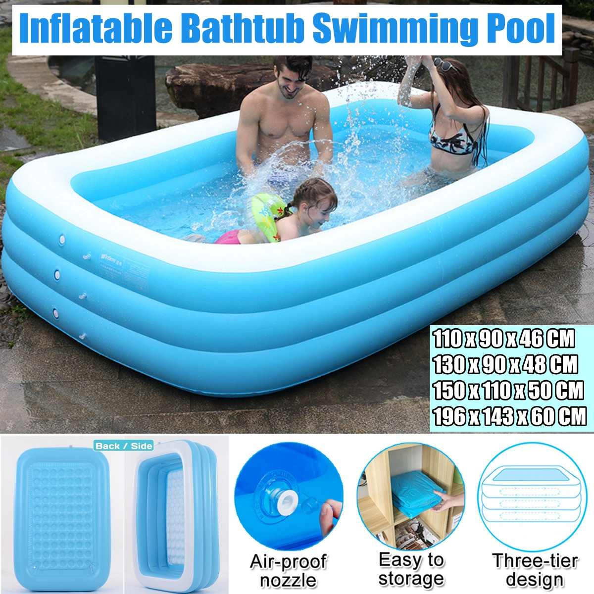 110cm-305cm Thicken Inflatable Swimming Pool Adults Kids Pool Bathing Tub  Outdoor Indoor Swimming Pool nflatable bathtub
