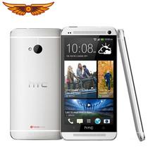 Original desbloqueado htc um m7 quad core 4.7 Polegada 4mp 32gb rom 2gb ram 1080i 2300mah touchscreen android telefone móvel
