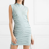 2019 Summer Women New Dress Slim Style Short Sleeve Side Drawstring Sexy Dress Holiday Solid Women Dress Patchwork Mini Dress