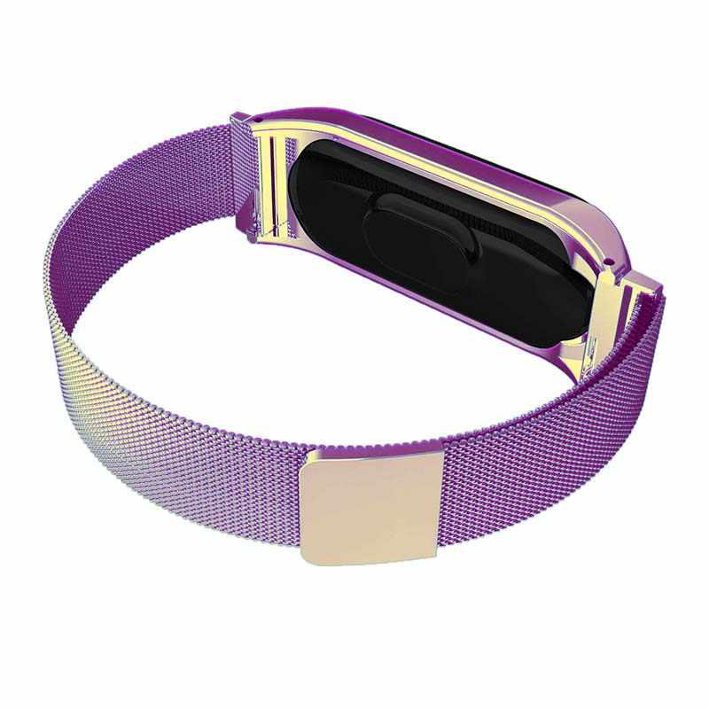 Pour mi bande 3 4 dragonne aimant métal acier inoxydable pour Xiao mi bande 4 3 dragonne Bracelet mi bande 4 3 bracelets Pulseira