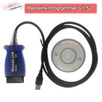 Renolink OBD2 ECU Program V1.52 For Renolt vehicels Reno Link USB Diagnostic Cablefor Renolt auto ECU / Key coding Airbag Reset