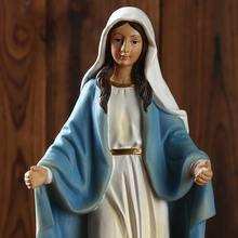 Hars Religieuze Jesus Religieuze Standbeeld Handgemaakte Religieuze Ornamenten Virgin Mary Standbeeld Figurine Desktop Souvenir Geschenken