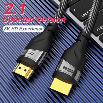 Kabel HDMI 2 1 4K 120HZ hdmi szybki 8K 60 HZ UHD HDR 48 gb s kabel HDMI Ycbcr4 4 4 konwerter dla projektorów PS4 HDTVs tanie i dobre opinie CableDeconn Mężczyzna Mężczyzna HDMI 8K Kable HDMI Pakiet 1 Karton Komputer Monitor Telewizja hdmi cable hdmi cable 8k