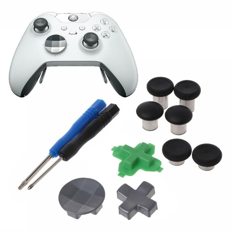 Swap polegar analógico varas apertos vara d-pad pára-choques gatilho botão peças de reposição para xbox um controlador elite