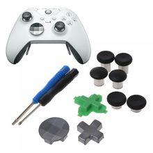 Échange de pouce bâtons analogiques poignées bâton d pad pare chocs bouton de déclenchement pièces de rechange pour contrôleur Xbox One Elite