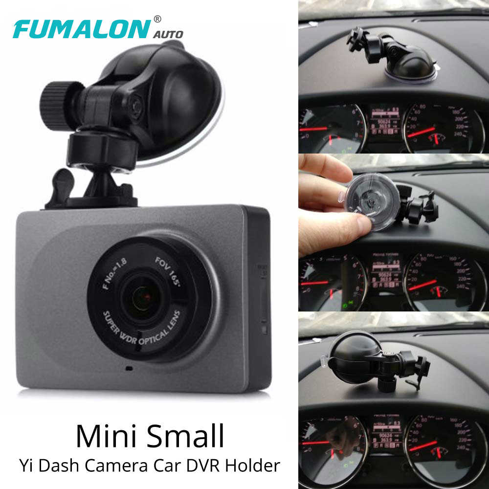 For Original Yi Car DVR Holder Bracket Black Transparent Dash Camera Sucker Super Suction Xiaoyi Yi Car GPS DVR Holder