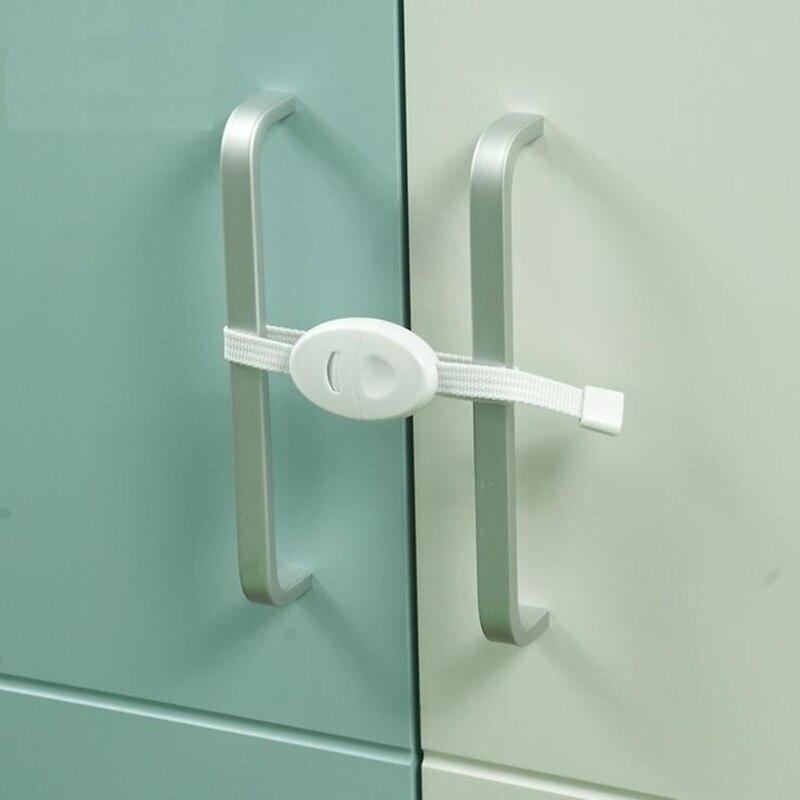 New 2Pcs Child Anti-pinch Safety Cabinet Door Lock Baby Kids Toddlers Infant Security Protection Cabinet Window Door Interlocks