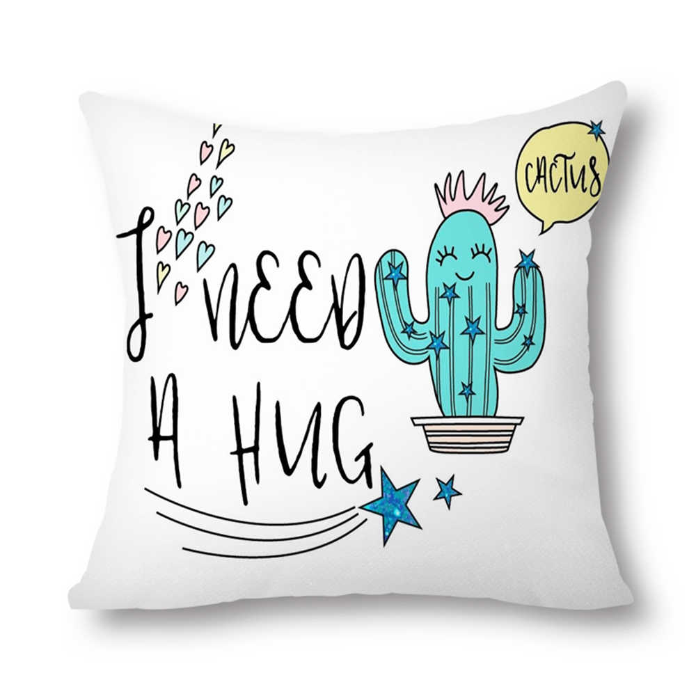 Mermaid Decorative Throw Pillow Covers 20x20 Inch Cotton