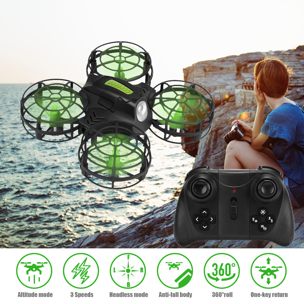 AHOHA WIFI Rc Drone Camera HD 1080P Mini Quadcopter Altitude Hold Dron Headless Mode 2.4G Helicopter For Kids Toys For Children