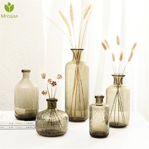 Hot Bubble Glass Vase Nordic Decoration Home Flower Vases Terrarium Glass Containers Wedding Bottle Jarrones Decorativos Moderno(China)